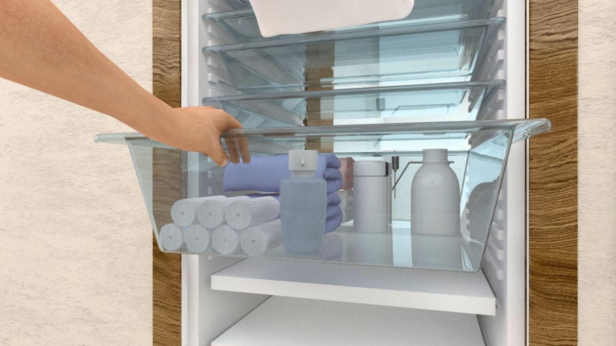 Moduflex© - rendering pull-tilt shelf