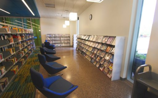 a-frame shelving for library media display