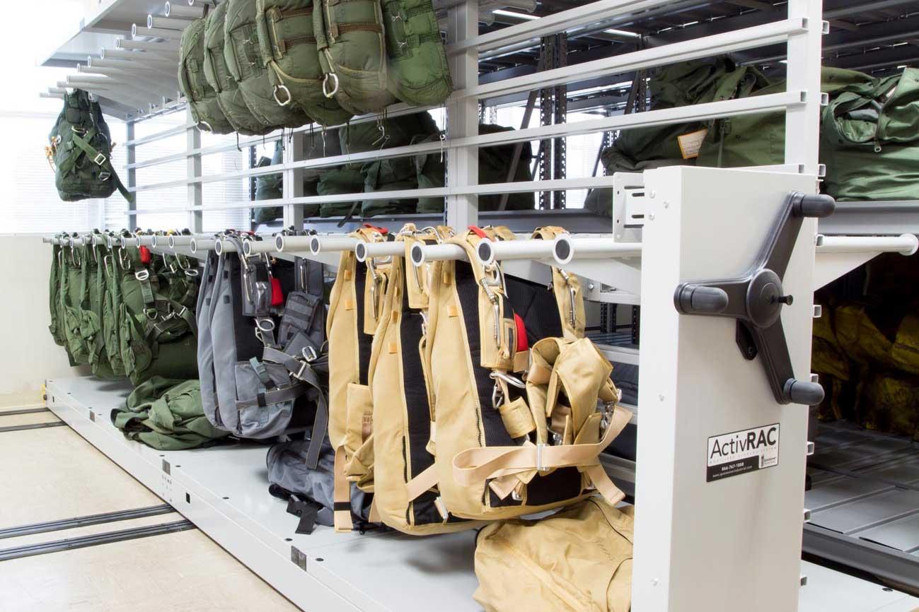 Parachute high density storage