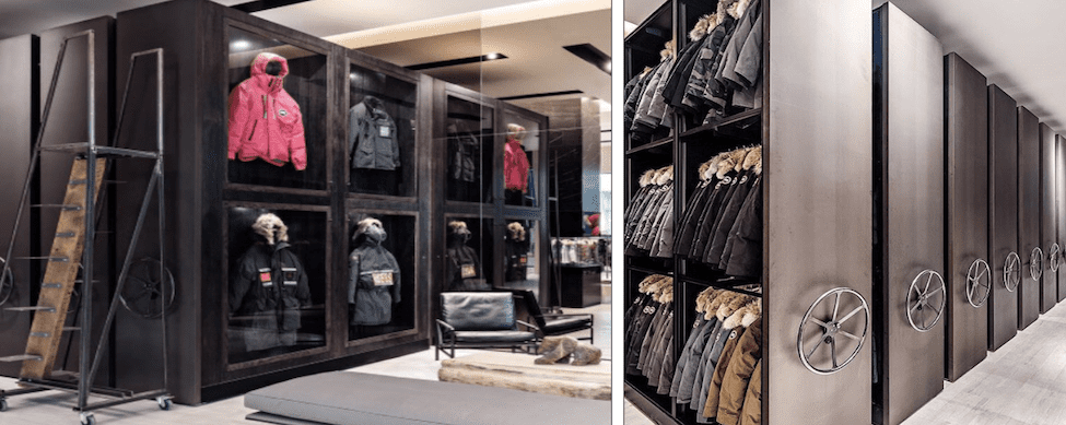 Canada Goose High-End Storage Solutions by Spacesaver