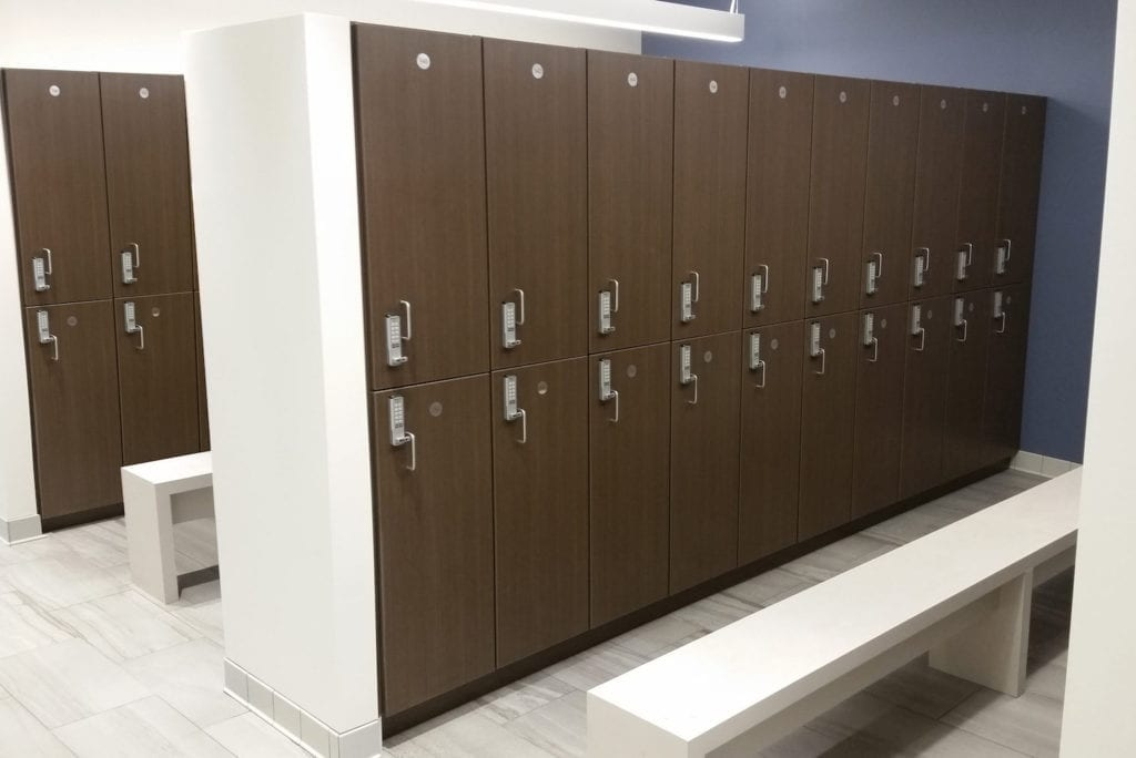 day use lockers in locker room