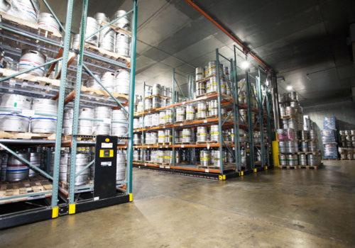 Keg storage warehouse layout
