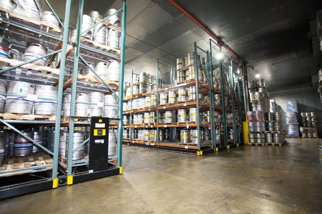 Keg storage warehouse