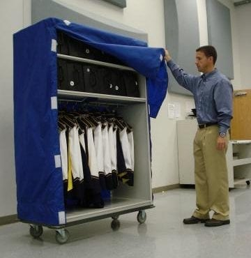 uniform cart for marching bands