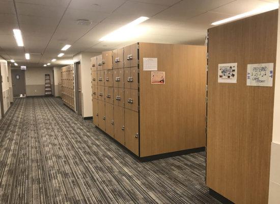band locker room