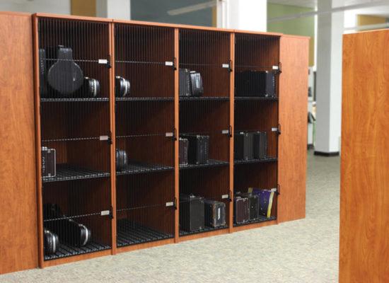 secure instrument storage locker