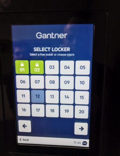 gantner locker panel