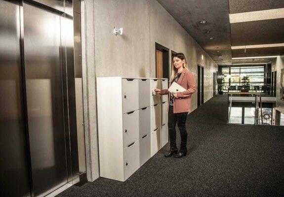 office locker bank