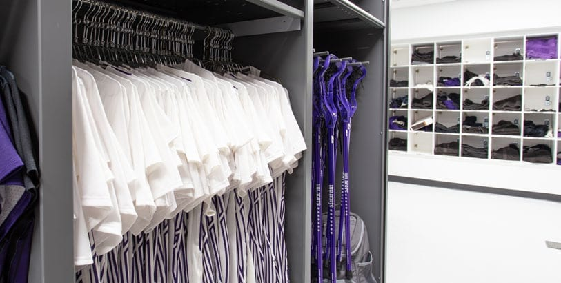 NU Athletics - Clothes Racks and Cubbies