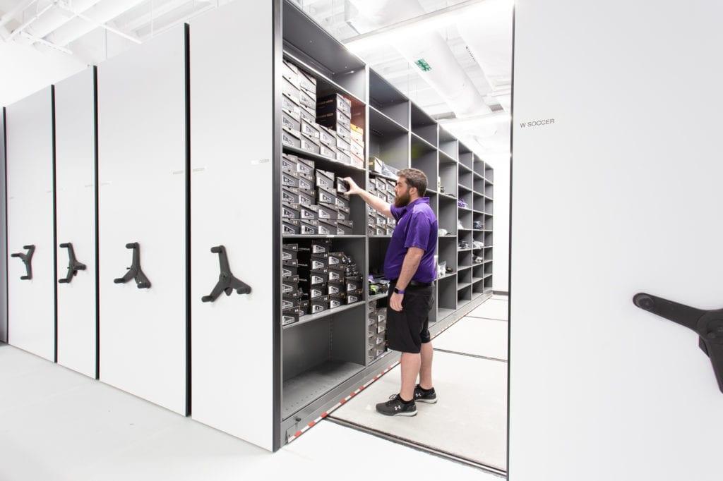 NU Athletics - High-Density Mobile Storage