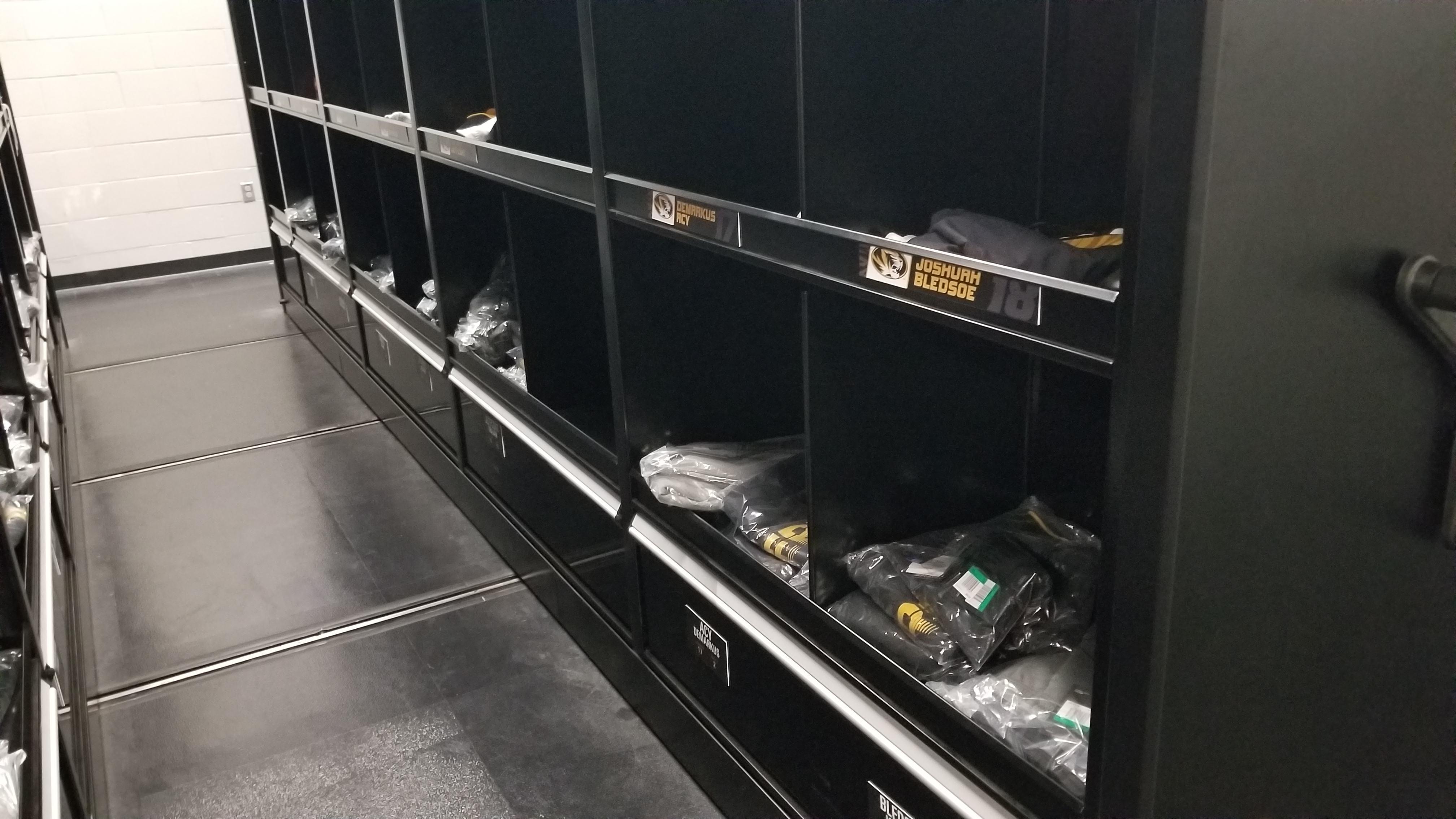 Mizzou Player Lockers