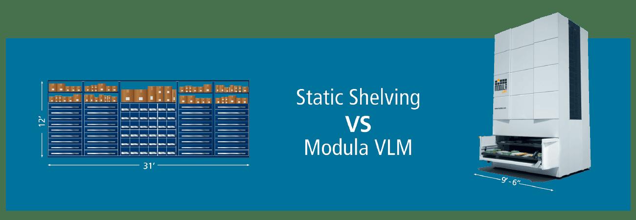 Static Shelving vs. Modula VLM - automotive fixed ops