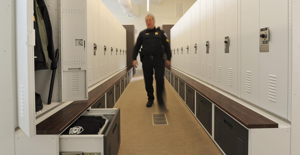 public safety locker room