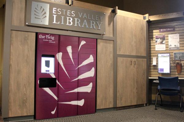 estes valley library book lockers