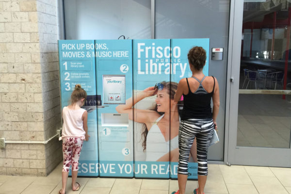 outdoor contactless book pickup