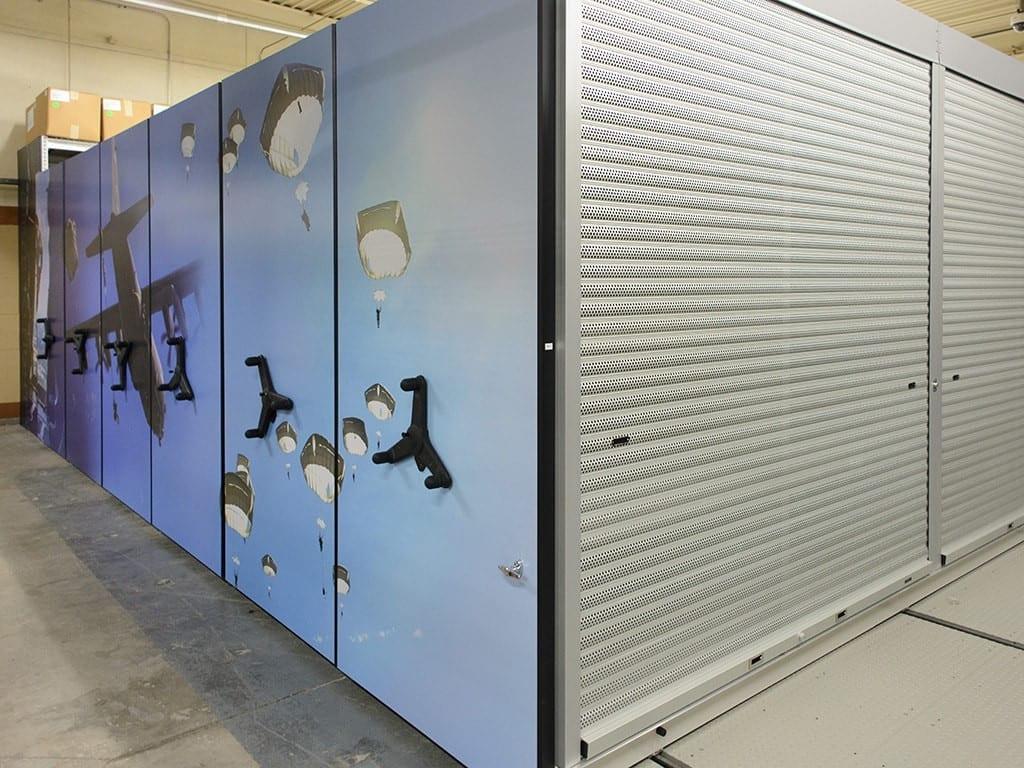 Lockdown doors on military high density