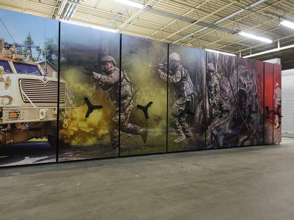 Army wrap on high density system